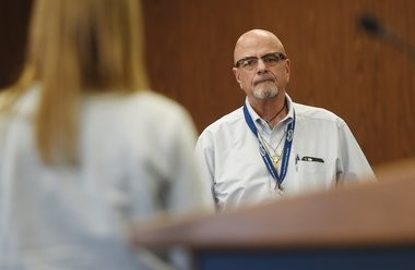 Director of Operations and case manager for Recovery Court, Newell Turpel (J. Scott Park | Jackson Citizen-Patriot/MLive)