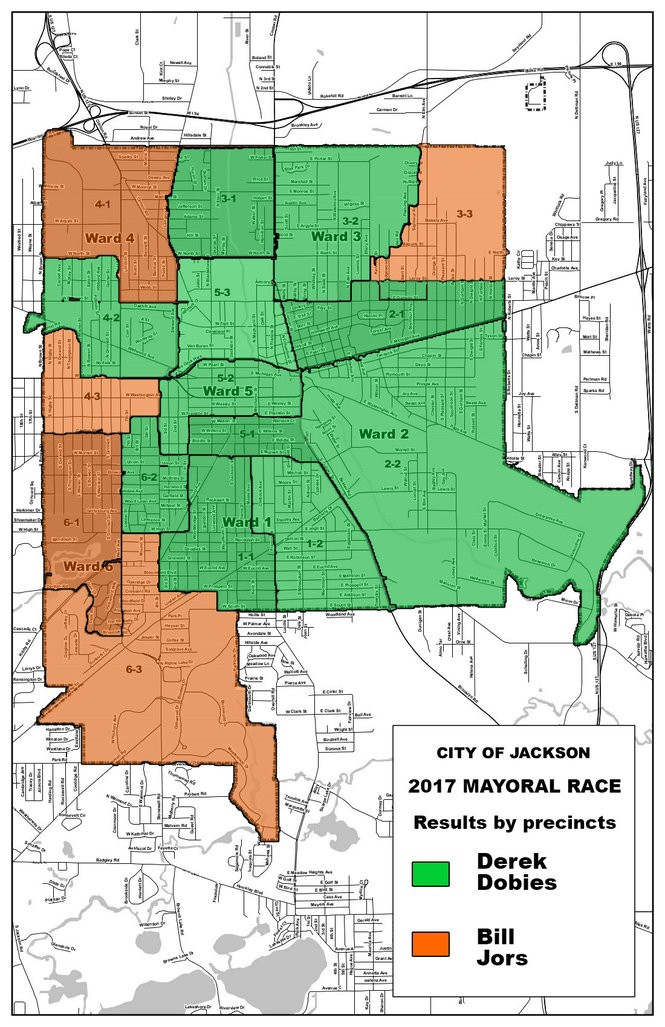 How the precincts voted during the Tuesday, Nov. 7 election, by mayoral candidate.