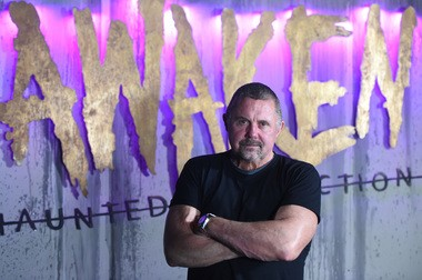 Kane Hodder, famous for portraying Jason Voorhees in four of the Friday the 13th movies, is visiting the Awaken Haunted Attraction in Leslie from Oct. 12 through Oct. 14. (J. Scott Park | MLive.com ) J. Scott Park