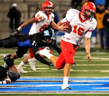 One of Vander Laan's first big games came against Grand Valley State in 2012 when he rushed for 185 yards and two touchdowns.