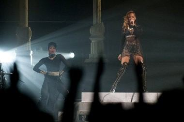 Rihanna visited Detroit Thursday night preforming at Joe Louis Arena in Downtown Detroit. ASAP Rocky, her opening act canceled due to an illness, March 21. (Tanya Moutzalias | MLive.com)