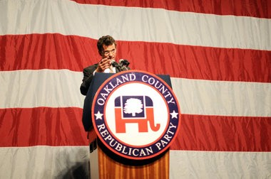 David Trott speaks during the annual Oakland County Lincoln Day Dinner, at which Donald Trump was the keynote speaker, in this May 21, 2013 MLive file photo.