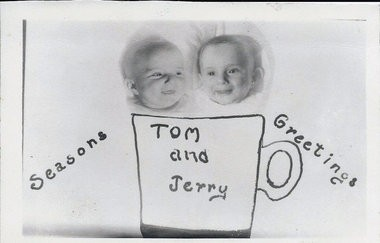 One of the Christmas cards featuring Tom and Jerry from the Schoeniths (courtesy image).