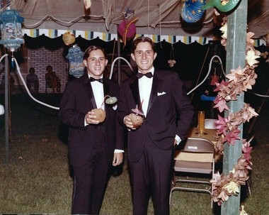 Tom (right) and Jerry Schoenith's 21st birthday party included 500 of their closest friends being bussed to their summer home in Canada. (courtesy image)