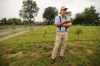 Hantz Farms' Mike Score took MLive Detroit on a tour of their east side parcels of land they own and are looking to own on Tuesday, June 25. (Tanya Moutzalias | MLive.com)