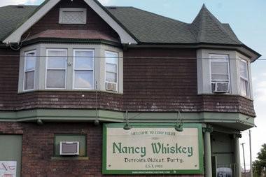 Outside of Nancy Whiskey on September 16, 2014 in the Corktown neighborhood of Detroit. (Elaine Cromie | MLive)