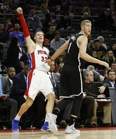 Detroit Pistons forward Jonas Jerebko (33) has had a career rebirth in Stan Van Gundy's system, going into a vital free-agency summer for him.