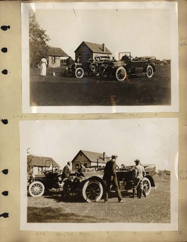 (Photos from the AACA Library) A scrapbook created by H.J. Caulkins Jr., dated June 17, 1915 to July 25, 1915, is filled with hundreds of photos from the road trip that Edsel Ford, the son of Henry Ford, and his friends took from Ford's Fair Lane Estate in Dearborn, MI to San Francisco. The group drove 4,202 miles in Ford's 1915 Model T Touring Car. His friends took a Cadillac and a Stutz.