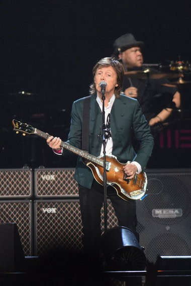 "Paul McCartney performs for the first time at Joe Louis Arena for his ""Out There"" Tour on Wednesday, Oct. 21, 2015. (Tanya Moutzalias 