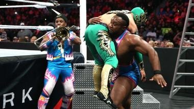 Big E Langston in action in a recent match. (Photo courtesy of WWE 2015)