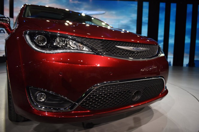 The 2017 Chrysler Pacifica and 2017 Chrysler Pacifica Hybrid were revealed at the 2016 North American International Auto Show during the first press preview day at Cobo Center in Detroit, Jan. 11, 2016. (Tanya Moutzalias | MLive Detroit)