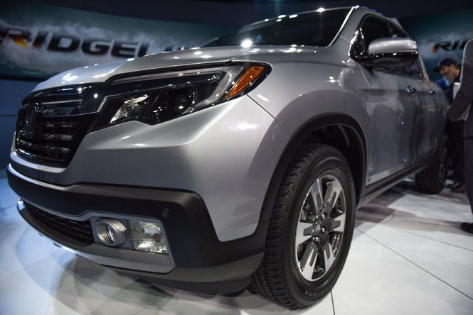 Honda revealed the 2017 Honda Ridgeline on Monday at the North American International Auto Show on the first press preview day at Cobo Center in Detroit, Jan. 11, 2016. (Tanya Moutzalias | MLive Detroit)