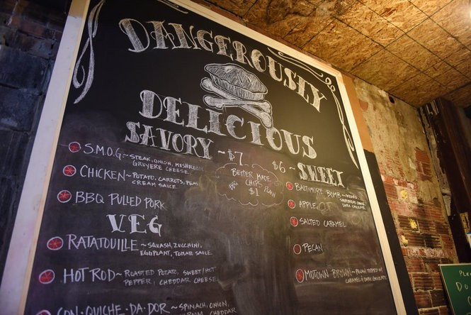 Dangerously Delicious Pies is located inside Third Street Bar in Detroit's Midtown. (Tanya Moutzalias | MLive Detroit)
