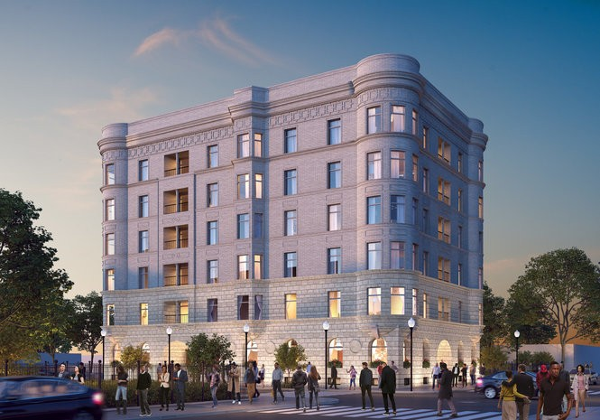 This building at 100 Temple was constructed in 1899 and will be renovated to include 46 residential units and retail. Construction is scheduled to begin in 2018.
