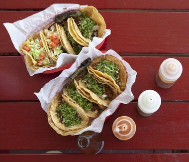 A variety of tacos at Taqueria San Jose in Grand Rapids for MLive's John Gonzalez to try as he searches for the best taco in the state of Michigan.