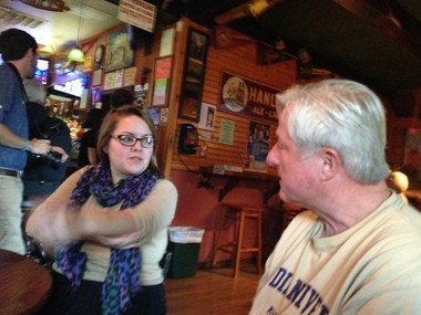 MLive/Saginaw News reporter Jessica Shepherd talks to Mike Hanley, owner of the Big Ugly Fish of Saginaw. He is known to hold a Free Locally-Grown Giant Tomato raffle most Friday nights.