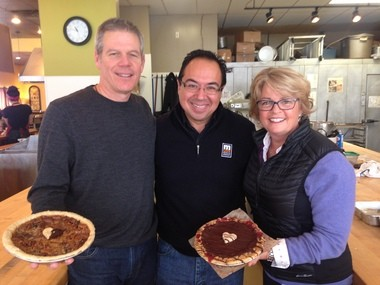 "John Gonzalez gets a chance to hang out with Mike and Denise Busley, who founded the Grand Traverse Pie Company in 1996. Chef Mario Batali once called their Cherry Crumb Pie ""a ""religious experience."""