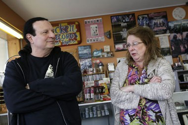 Owners John and Robin Spiteri of Checker Records in Hillsdale.