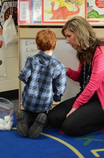 Alyssa Thompson, lead teacher for the Great Start Readiness Program at Indian Lake Elementary in Vicksburg, says she believes children will be more ready for kindergarten because of the state-funded preschool classes. (Photo by Sam Zomer)