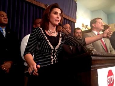 Sen. Majority Leader Gretchen Whitmer (file photo)