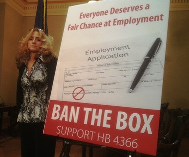 Monica Jahner is campaigning to remove the felony box as part of the Fair Chance Coalition.