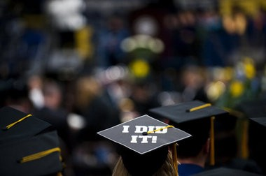 A 2010 commencement ceremony at the University of Michigan-Flint.