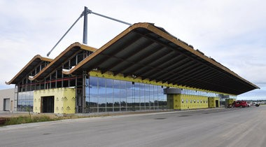 A new aviation fuel package could help fund airport improvements. This photo shows a new $50 million terminal at MBS International Airport that opened last year.