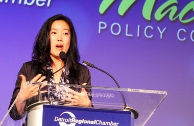 Michelle Rhee expressed support for the National Common Core State Standards at the 2013 Mackinac Policy Conference.