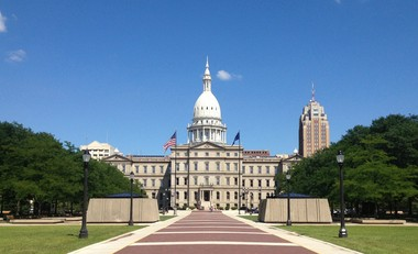 The Michigan Capitol in Lansing as seen in the summer of 2013.