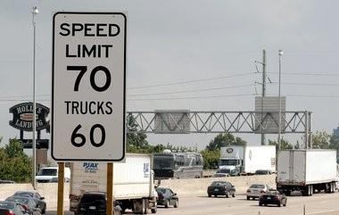 A stretch of U.S. 131 near downtown Grand Rapids.