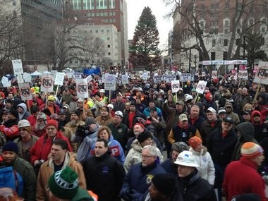Michigan's controversial right-to-work law went into effect in March, banning employers or labor unions from requiring workers to pay union dues or fees as a condition of their employment.