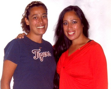Juvenile lifer Barbara Hernandez, right, with her sister, Andrea.