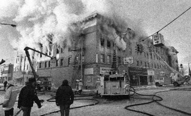 The Wenonah Hotel building caught fire on Dec. 10, 1977.