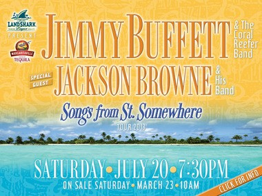Jimmy Buffett and Jackson Brown are coming to Detroit's Comerica Park this summer.
