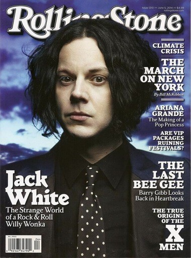 Detroit native Jack White, the former White Stripes frontman, is on the cover of the magazine's June 5 edition. The issue with White as the focus of the cover story is already available at newsstands nationwide.