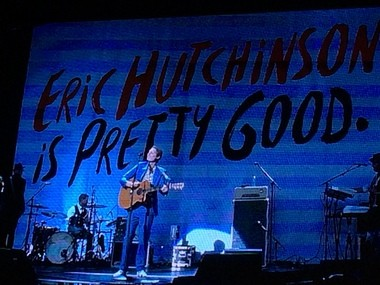 Eric Hutchinson performs at DTE Energy Music Theatre on July 26, 2015, opening for Kelly Clarkson