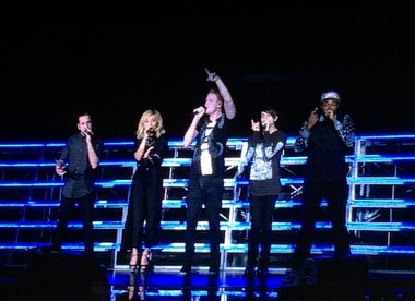 Pentatonix opens for Kelly Clarkson at DTE Energy Music Theatre on 7/26/15
