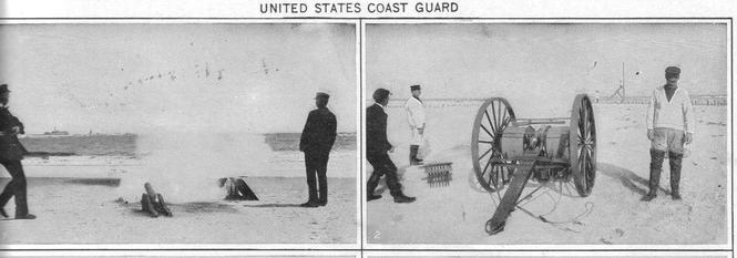 A Lyle Gun was a common piece of life-saving equipment.