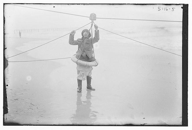 A breeches buoy.