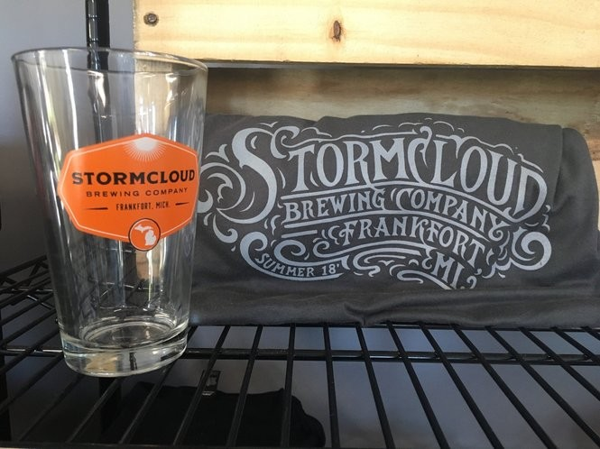 Stormcloud swag in the new tasting room.