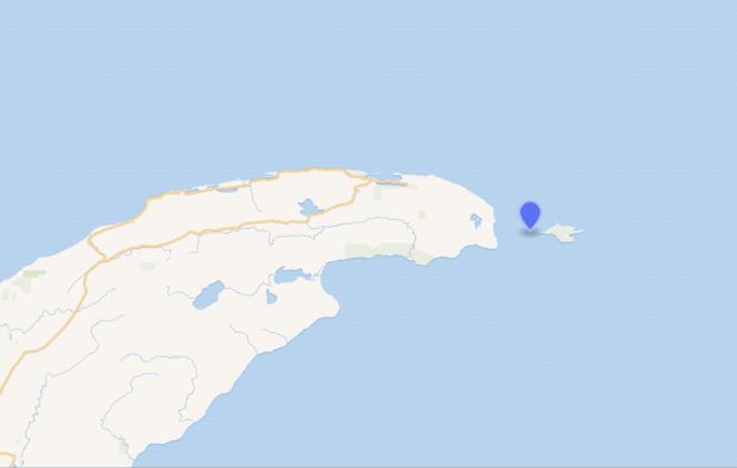 Gull Rock, next to Manitou Island, off Michigan's Keweenaw Peninsula.