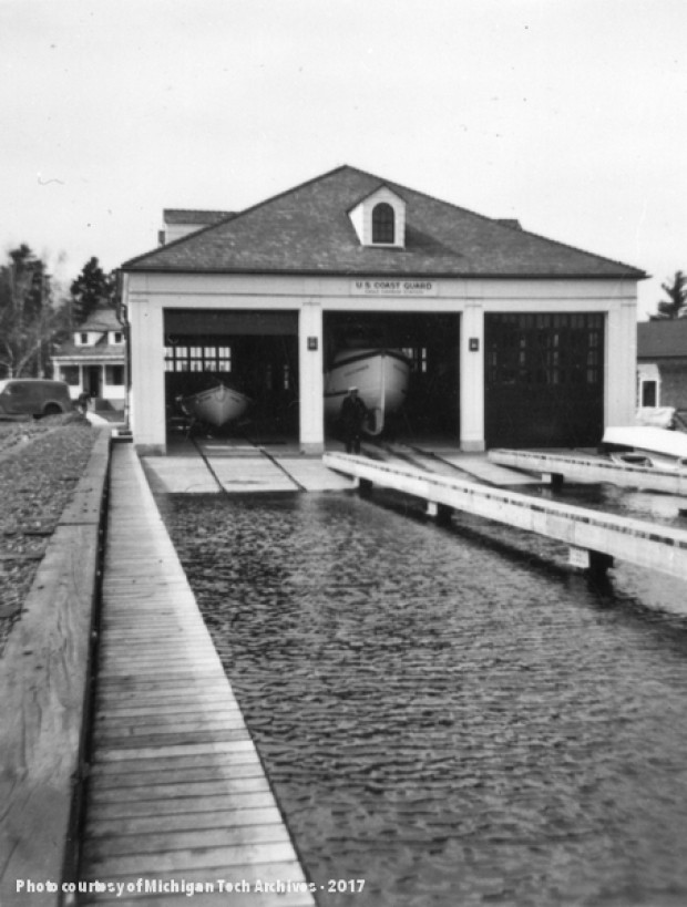 The boathouse at the U.S. Coast Guard Station at Eagle Harbor, which replaced the original Life-Saving station.