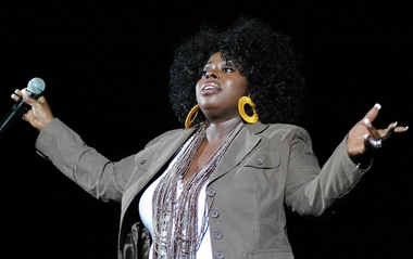 American singer Angie Stone performs live at the Hammersmith Apollo in London Saturday, Aug. 19, 2006.
