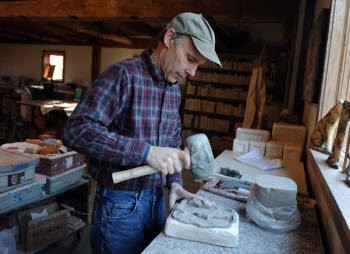 ART, NATURE: Scott Weaver has combined his tile-making craft with his interest in the environment to create Weaver Tile. (Bridge photo/Lon Horwedel)