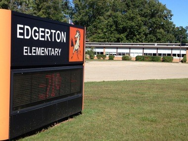 Police responded to Clio's Edgerton Elementary after a man open carried a pistol on his hip into the school Wednesday, Sept. 4.