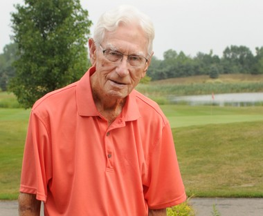 Mel Boonstra of Zeeland scored his first hole-in-one at Evergreen Golf Course in August. (Cory Olsen | MLive.com)