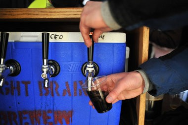 Right Brain brews were poured at the 2012 Winter Beer Festival.