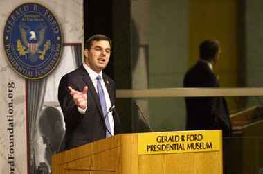 Rep. Justin Amash holds a town hall meeting Wednesday, Jan. 9, 2013 in the auditorium of the Gerald R. Ford Presidential Library and Museum. (Sally Finneran | MLive)