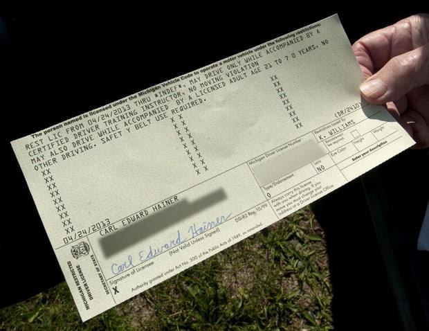 state of michigan drivers license renewal test