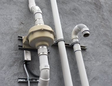 A vapor intrusion mitigation system outside the Seeds of Promise nonprofit at Hall Street and Madison Ave. SE in Grand Rapids.